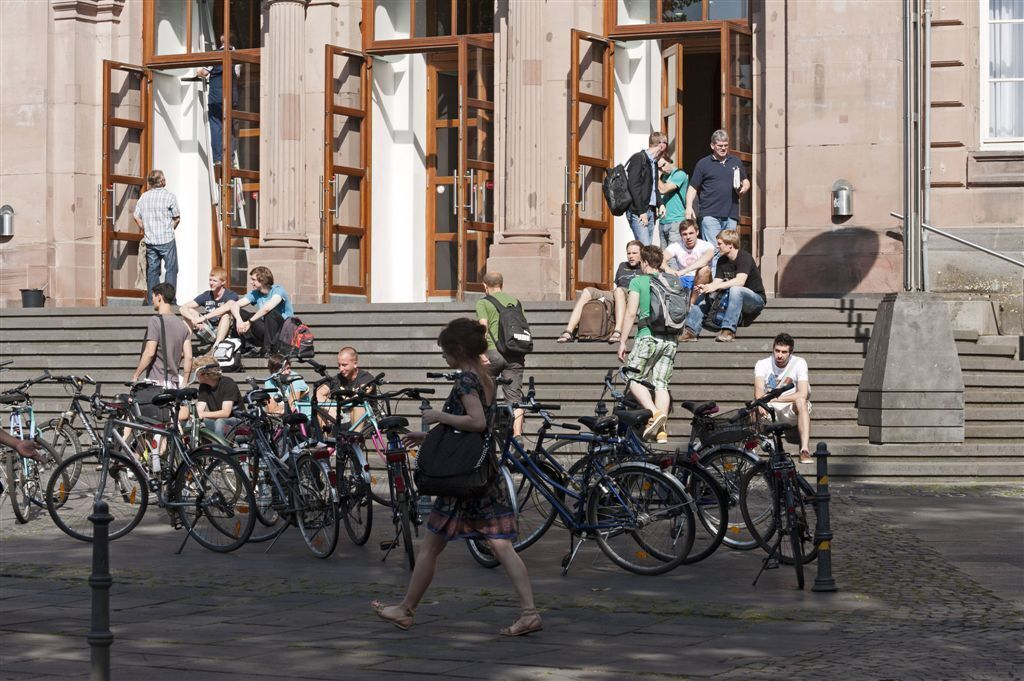 Bikes in front of the main building